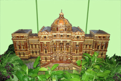 US Botanic Garden's Wood Replica of the Library of Congress Thomas Jefferson Building