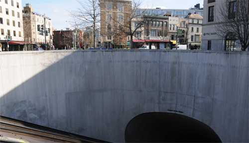 North (Q Street, NW) Exit from Dupont Circle Metro Station