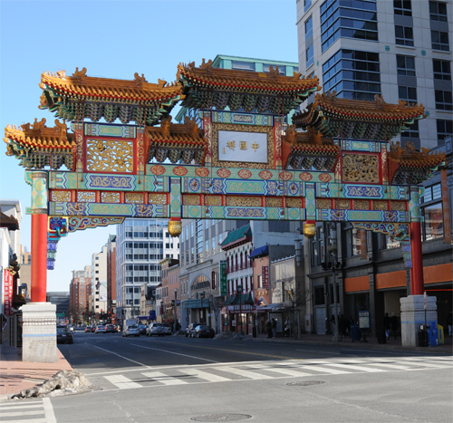 Chinatown Arch on H Street NW at 7th Street NW
