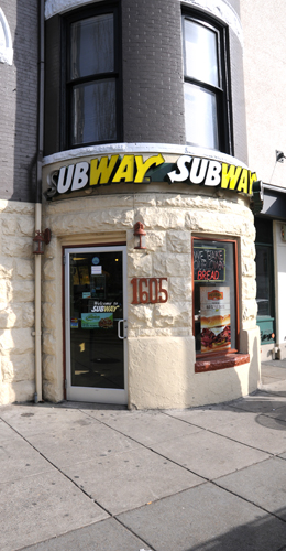 Subway at 1605 Connecticut Avenue NW