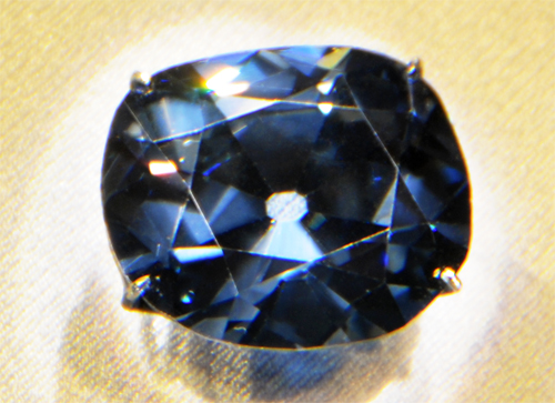 Hope Diamond in the Smithsonian Institution National Museum of Natural History
