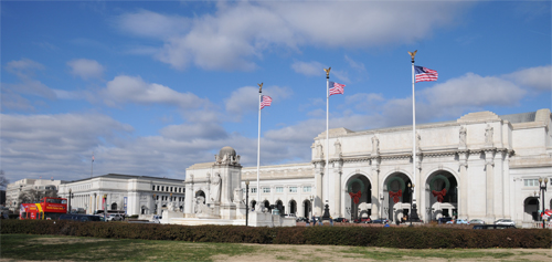 Union Station and the Postal Musuem (On the Far Left)