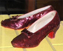 Ruby Shoes Belonging to Dorothy