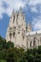 Washington National Cathedral - View of Front Towers From the South Side
