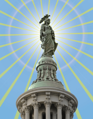 Statute of Freedom Located Atop the United States Capitol Dome