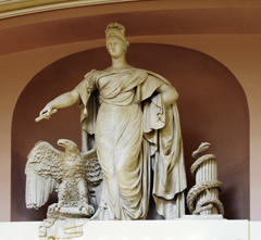 United States Capitol - National Statuary Hall - Sculpture of Liberty, Eagle and Snake On South Wall