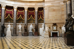 United States Capitol - National Statuary Hall - Some of the Sculptures Provided by the Various States