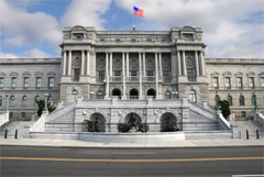 Library of Congress - Jefferson Building - Main Entrance Facing 1st Street SE