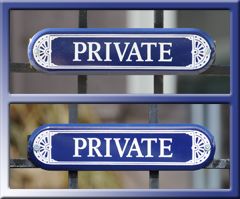 PRIVATE Signs at Real World DC House, 2000 S Street NW