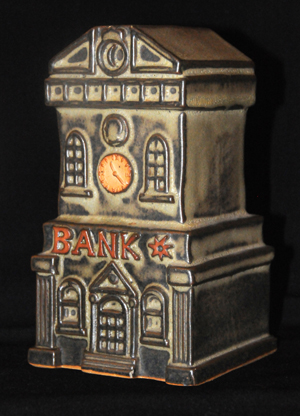 Tremar Pottery Bank Money Box/Piggy Bank