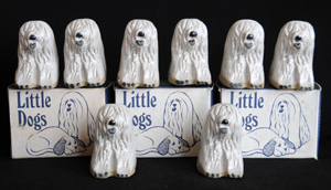 Tremar Pottery Little Dogs - Old English Sheepdog - Eight Dogs With Original Tremar Potteries Boxes