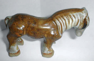Tremar Pottery Farm Animals - Carthorse - Photo by gazman24 on www.ebay.co.uk