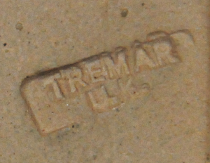 Tremar Pottery Marking on the Bottom of Tudor House Money Box/Piggy Bank
