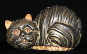 Tremar Pottery Cat Money Box/Piggy Bank