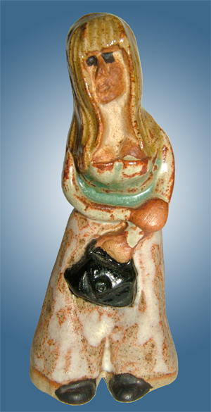 Tremar Pottery People Series - Teenager - One of the rarest figures. - Photo by diphidi on www.ebay.co.uk