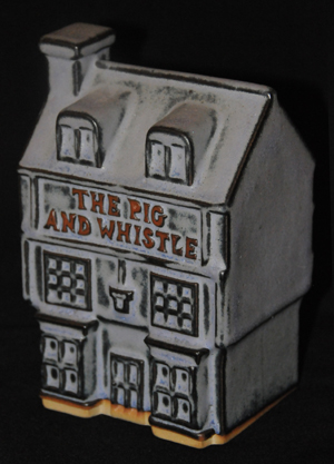 Tremar Pottery The Pig and Whistle Money Box/Piggy Bank