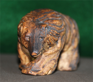Tremar Pottery Safari Animals - Brown Bear - Front