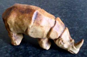Tremar Pottery Safari Animals - Rhino - Photo by wildweasel05 on www.ebay.co.uk