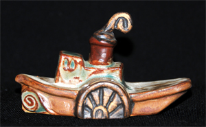 Tremar Pottery Ships - Paddle Steamer