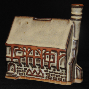 Tremar Pottery Tudor House Money Box/Piggy Bank