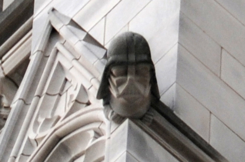 The Grotesque (Carving) of Darth Vader at the National Cathedral in Washington DC