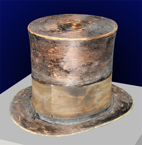 Abraham Lincoln's Top Hat Worn to Ford's Theatre on April 14, 1865