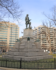 David G. Farragut Statue in the Center of Farragut Square, Washington, DC