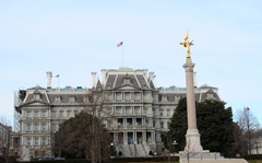 First Division Monument With the Eisenhower Executive Office Building Behind It