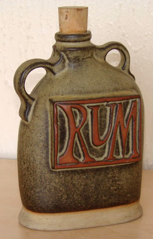 Tremar Pottery - Decanter/Bottle, Rum - Photo by 6965pauline on www.ebay.co.uk
