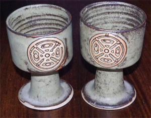 Tremar Goblets - 13 cm/5 inches tall, 9 cm/3.5 inches diameter - Photo by alifox1 on www.ebay.co.uk