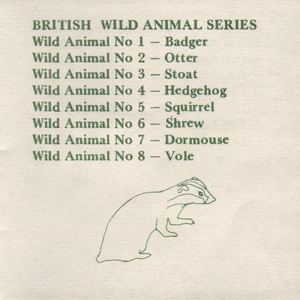 Tremar Pottery Multi-Series Green Ink Insert - Page 9 - British Wild Animal Series