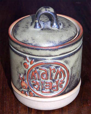Tremar Jar, Marmalade - 10 cm/4 inches tall, 9.5 cm/3.75 inches diameter - Photo by alifox1 on www.ebay.co.uk
