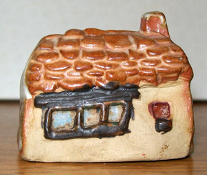 Tremar Pottery - Little Building Series - Moorland Cottage - Back