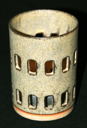 Tremar Pottery - Candle Holder - Photographed in Bright Light
