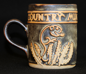 Tremar Country Mug With Mouse Design - Approximately 3.75 inches (9.5 cm) high; 3 inches (7.5 cm) diameter