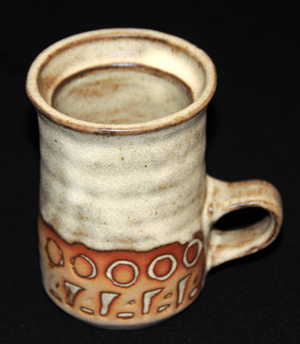 Tremar Pottery Mug - Geometric Design - Circles and More