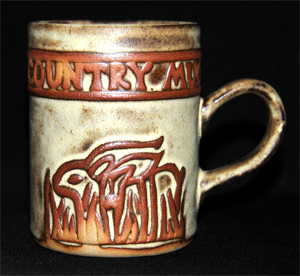 Tremar Country Mug With Rabbit Design - Approximately 3.75 inches (9.5 cm) high; 3 inches (7.5 cm) diameter