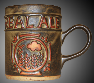 Tremar Real Ale Mug - Approximately 4.25 inches (11 cm) high; 3.5 inches (9 cm) diameter