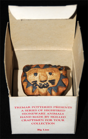 Tremar Pottery - Big Lion in the Big Lion Box
