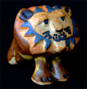 Tremar Pottery - Big Lion Looking to the Side