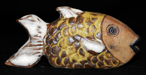 Tremar Pottery Tropical Fish - Yellow Wrasse (No. 1)
