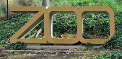 National Zoo Sign at Connecticut Avenue NW and Jewett Street NW, Washington DC