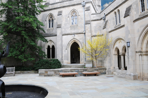 The Garth - Secluded Courtyard at the National Cathedral in Washington DC
