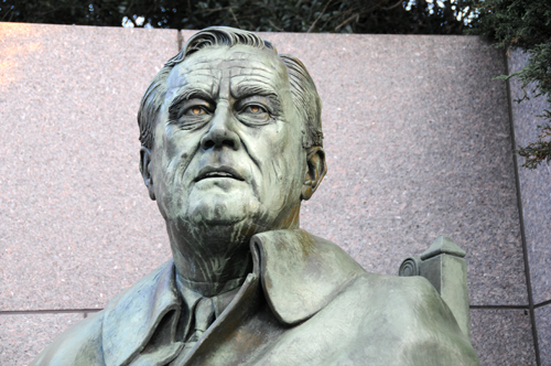 Statute of Franklin Delano Roosevelt by Sculptor Neil Estern in Room Three of the FDR Memorial