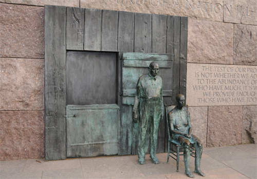 The Rural Couple - Created by Sculptor Georg Segal - Located in the Franklin Delano Roosevelt Memorial
