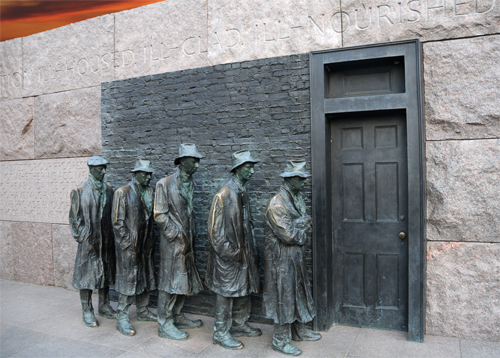 The Breadline - Created by Sculptor Georg Segal - Located in the Franklin Delano Roosevelt Memorial