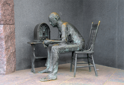 The Fireside Chat - Created by Sculptor Georg Segal - Located in the Franklin Delano Roosevelt Memorial