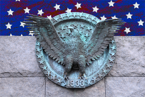 The Presidential Seal - Created by Sculptor Tom Hardy - Located in the Franklin Delano Roosevelt Memorial