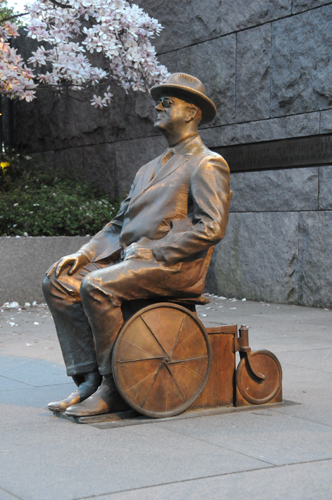 Sculpture of FDR Using a Wheelchair Similar to One He Actually Used - Located in the Franklin Delano Roosevelt Memorial