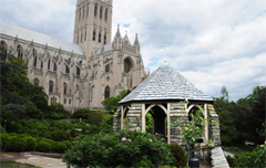 Shadow House With the Washington National Cathedral in the Background